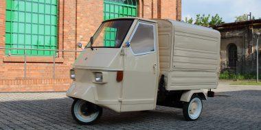 Piaggio Ape 50 converted for prosecco van